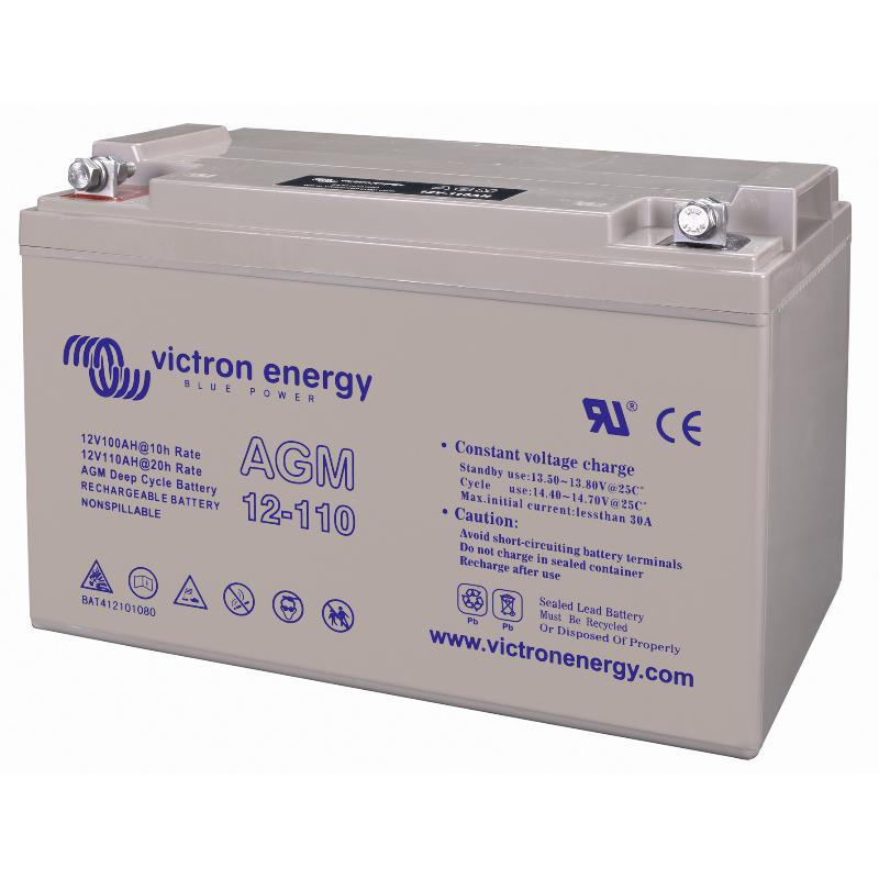 Victron Energy 12V/110Ah AGM Deep Cycle Battery BAT412101084