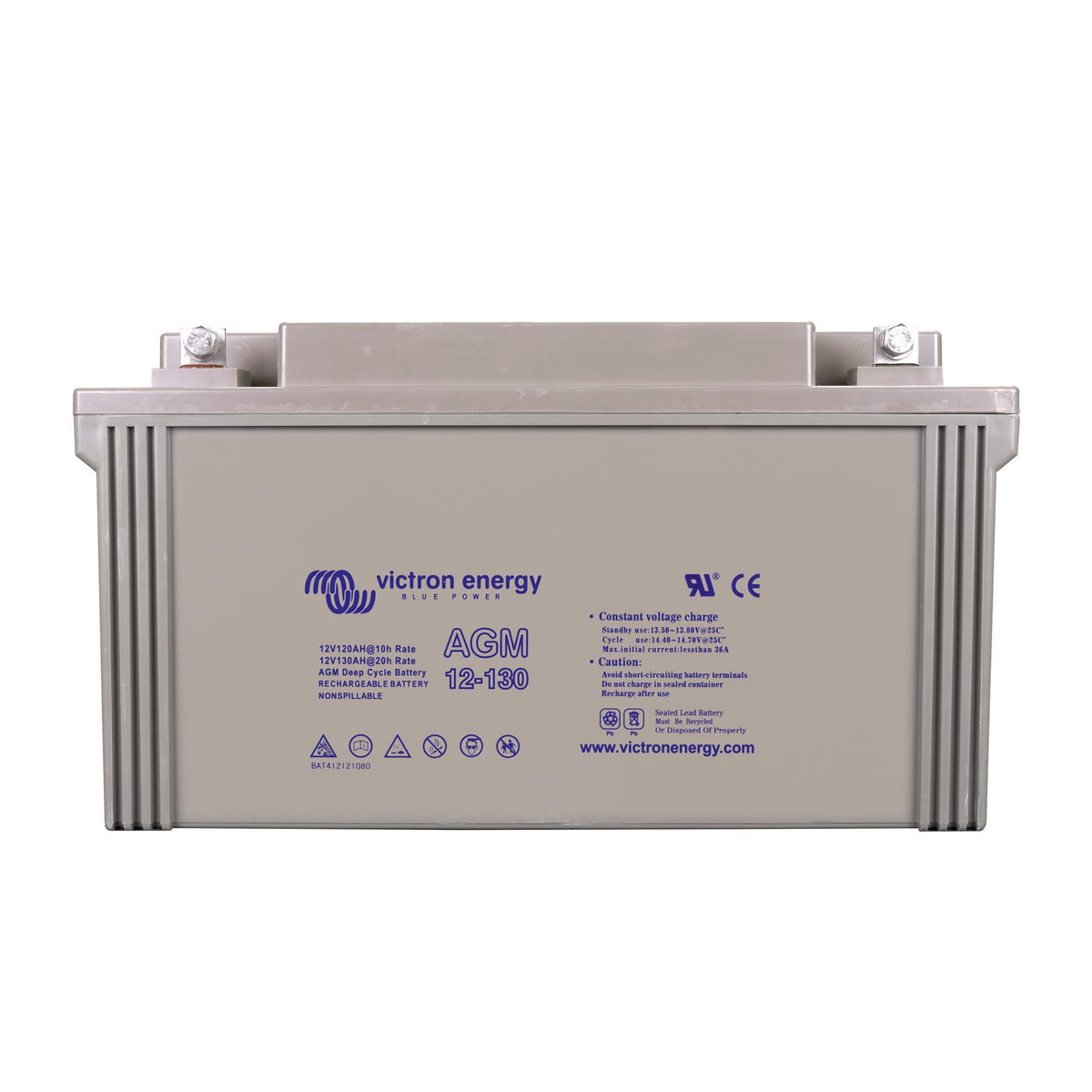 Victron Energy 12V/130Ah AGM Deep Cycle Battery BAT412121084