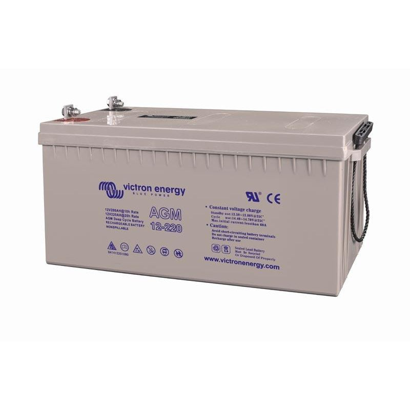 Victron Energy 12V/220Ah AGM Deep Cycle Battery BAT412201084