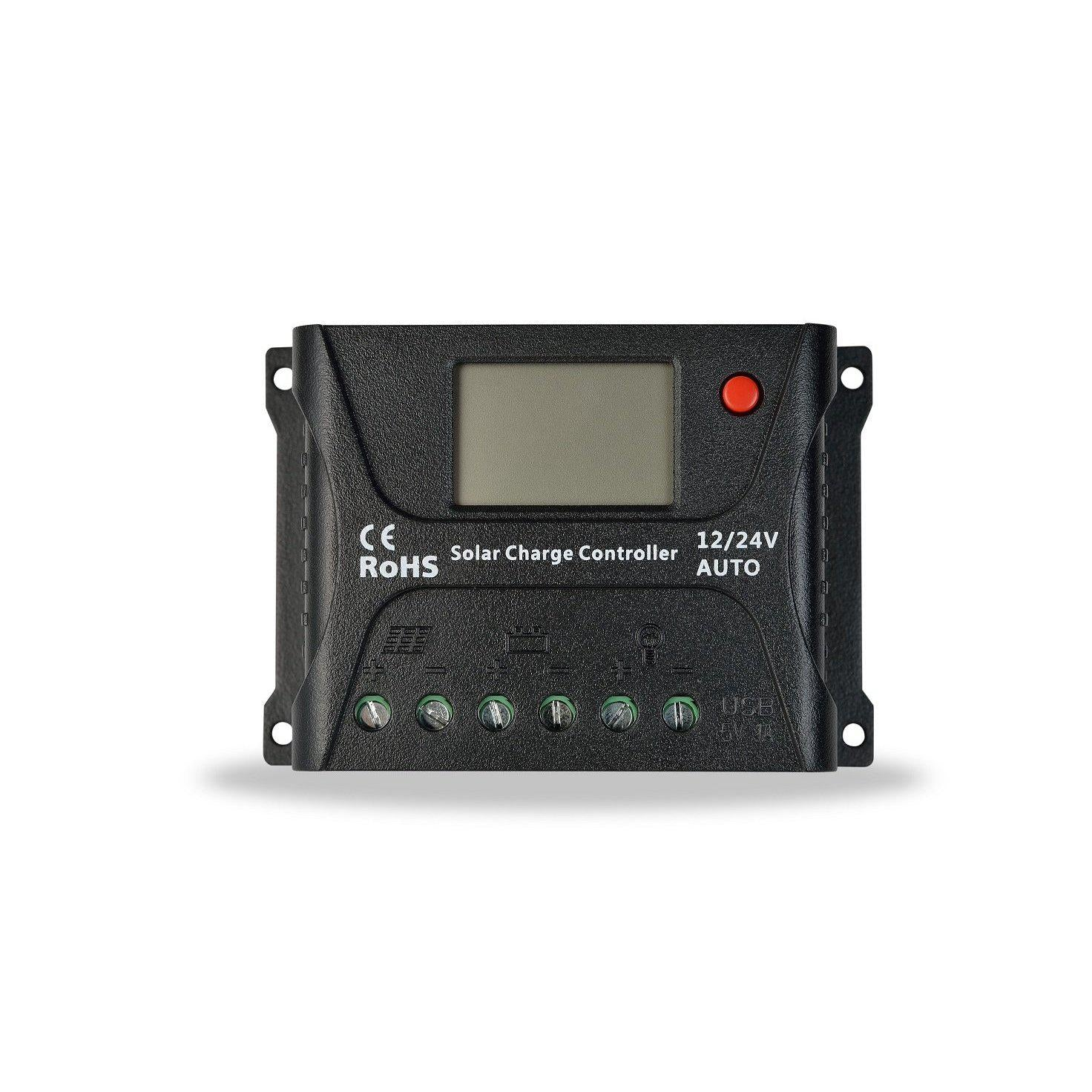 InstaPower 10A Solar Charge Controller 12V/24V With LCD Display - SBP Electrical