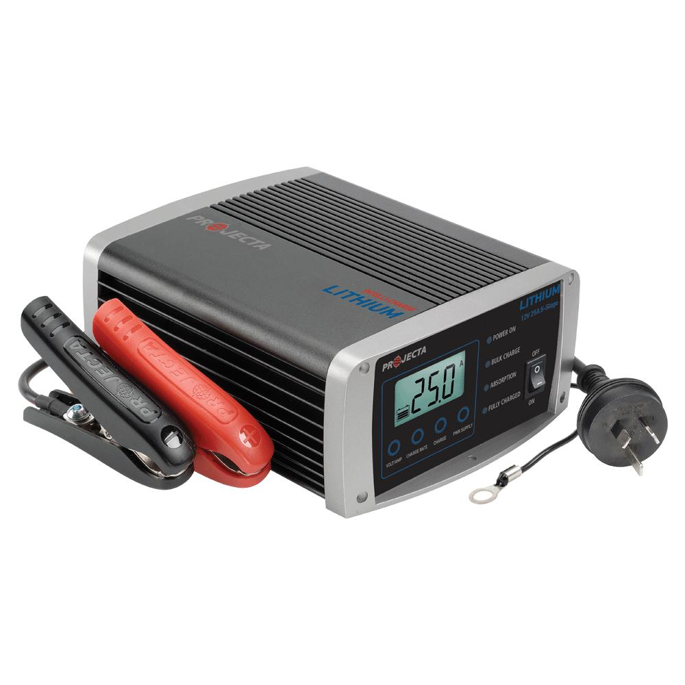 PROJECTA 12V AUTOMATIC 25 AMP 5 STAGE LITHIUM BATTERY CHARGER - SBP Electrical