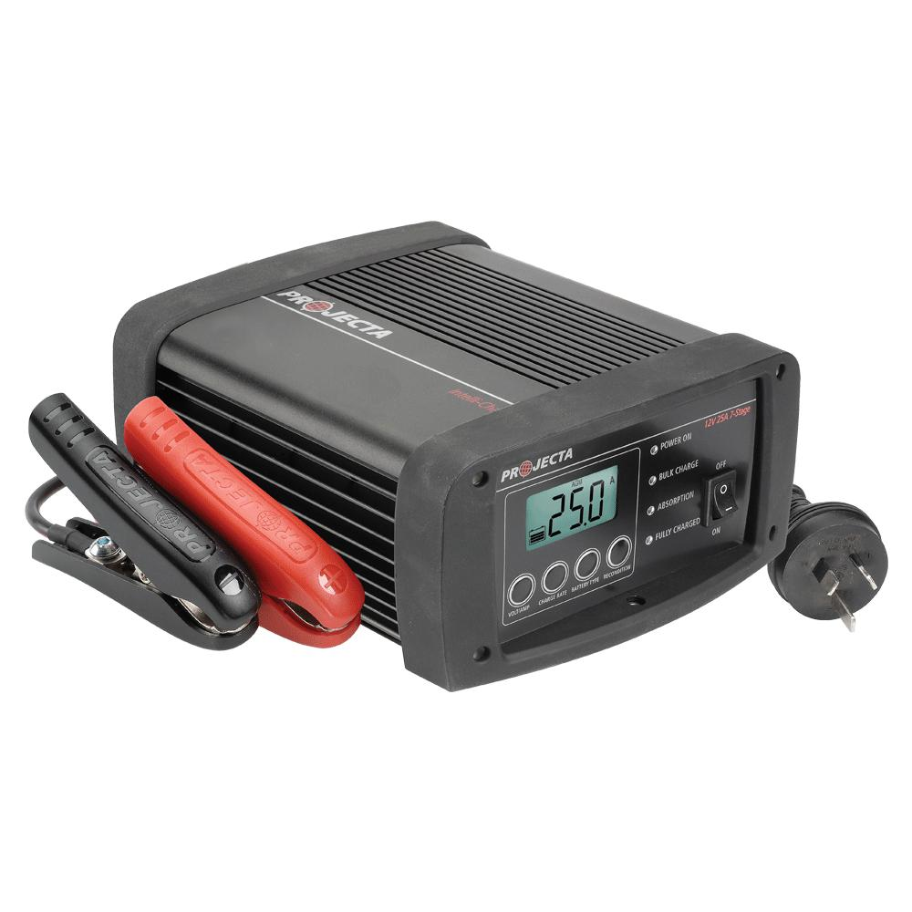 PROJECTA 12V AUTOMATIC 25A 7 STAGE WORKSHOP BATTERY CHARGER - SBP Electrical