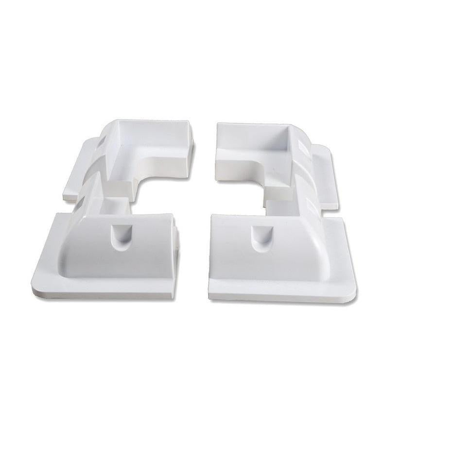 Bracket Corner White Set 4pcs - SBP Electrical