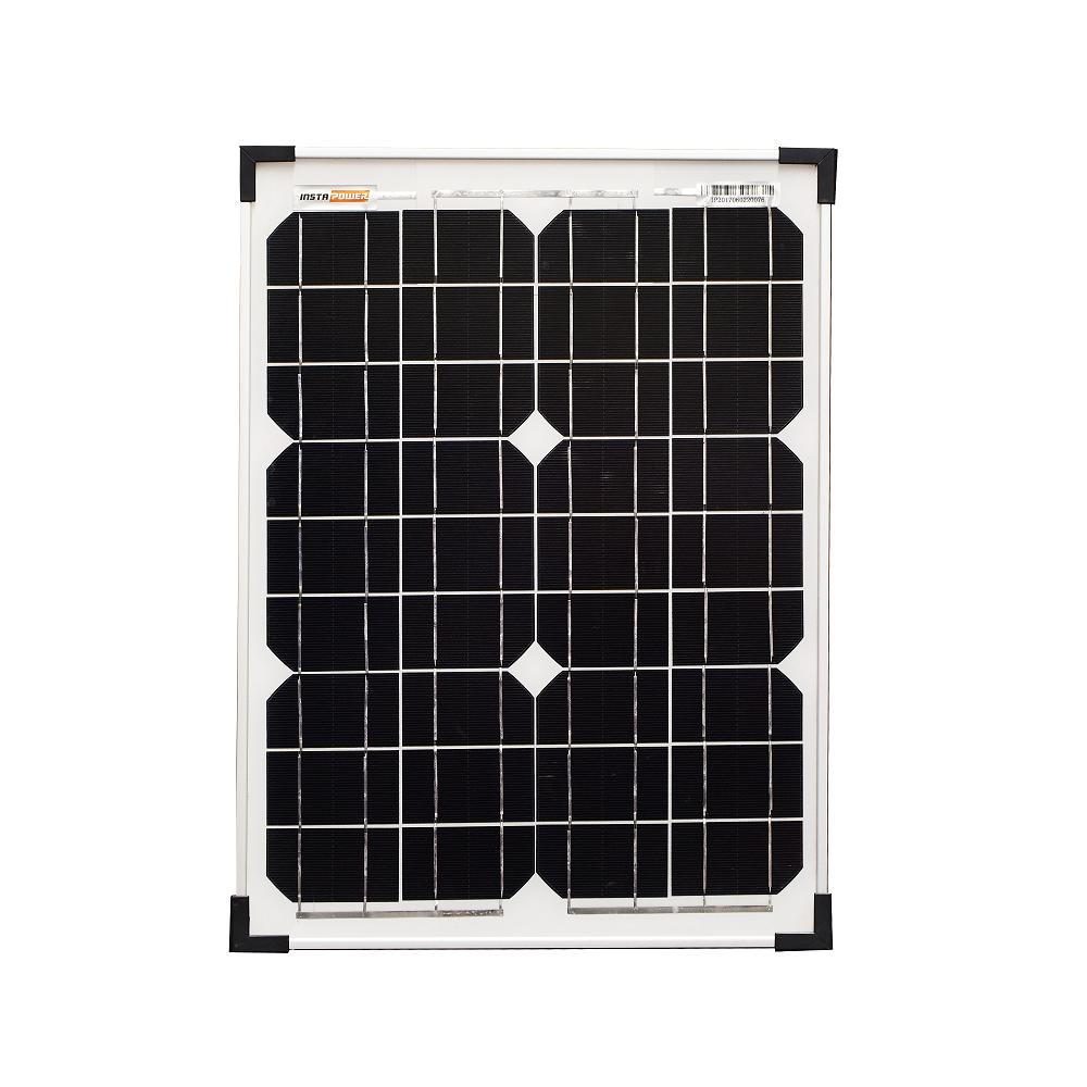 InstaPower 20W 12V Mono Trickle Charge Solar Panel With Regulator and Stand - SBP Electrical