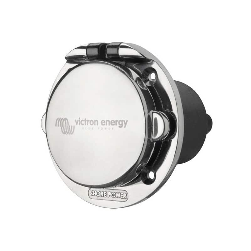 Victron Energy Power Inlet stainless with cover 16A/250Vac (2p/3w) SHP301602000