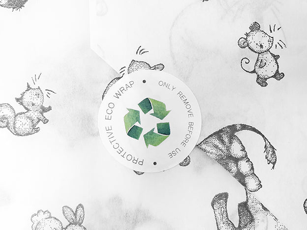 customised pretty eco packaging sticker