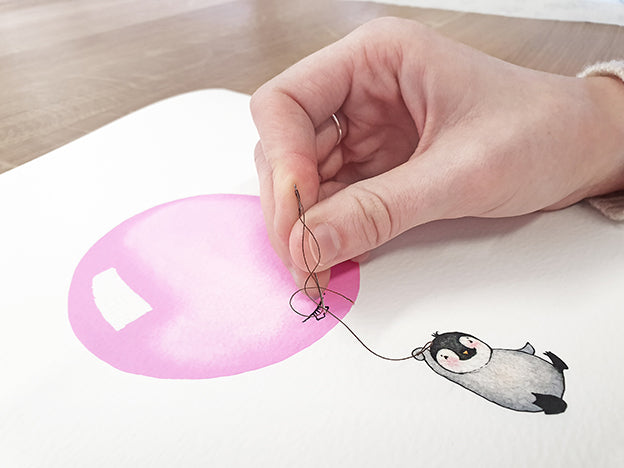 girl's pink personalised balloon print detailed view