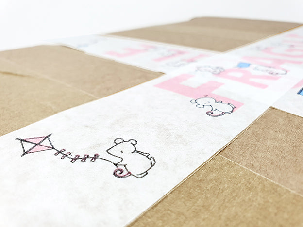 customised cute eco packing tape