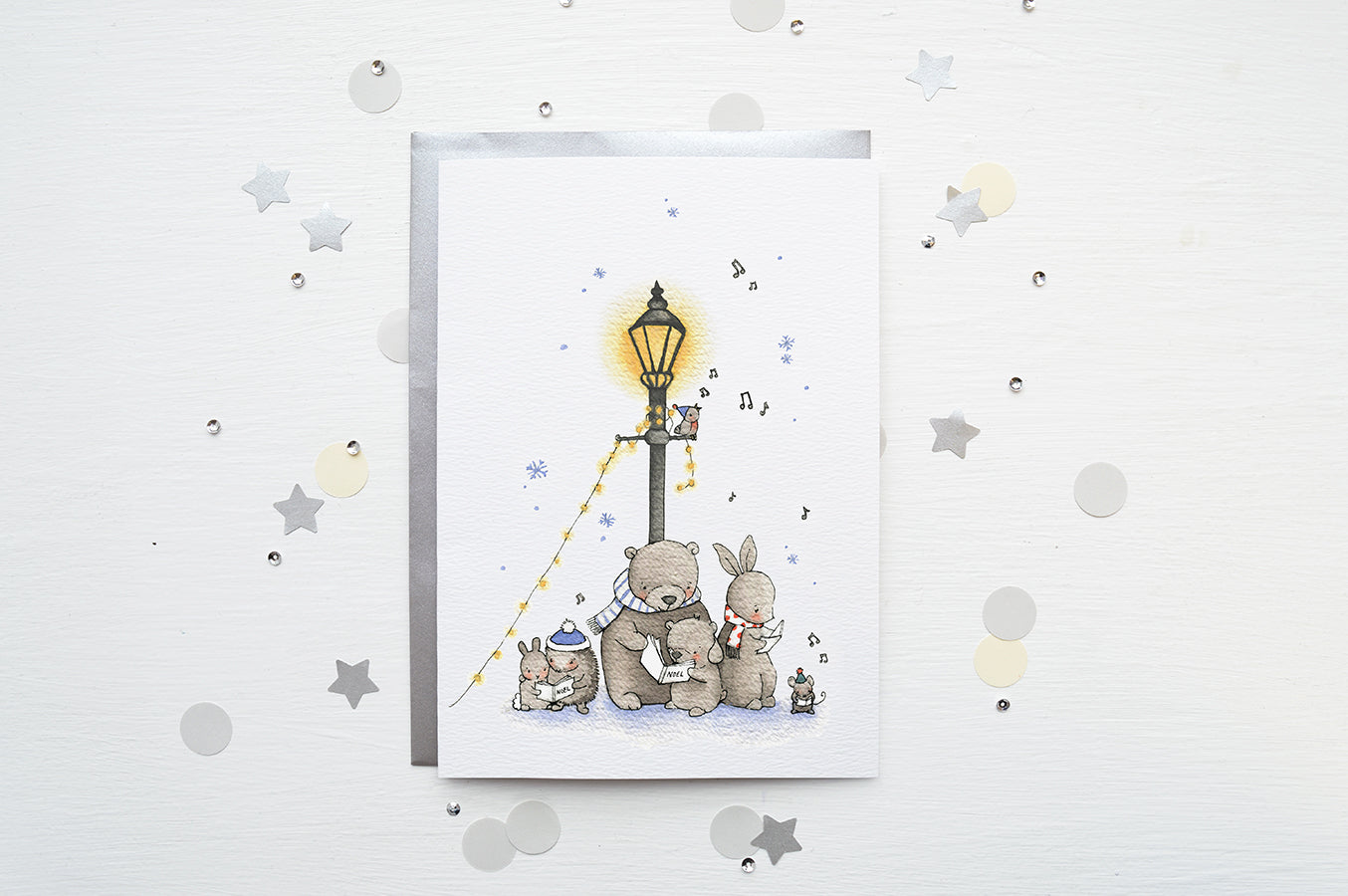 Children's Christmas Carol Singers Greetings Card