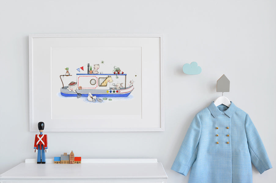 Children's Big Canal Boat Picture