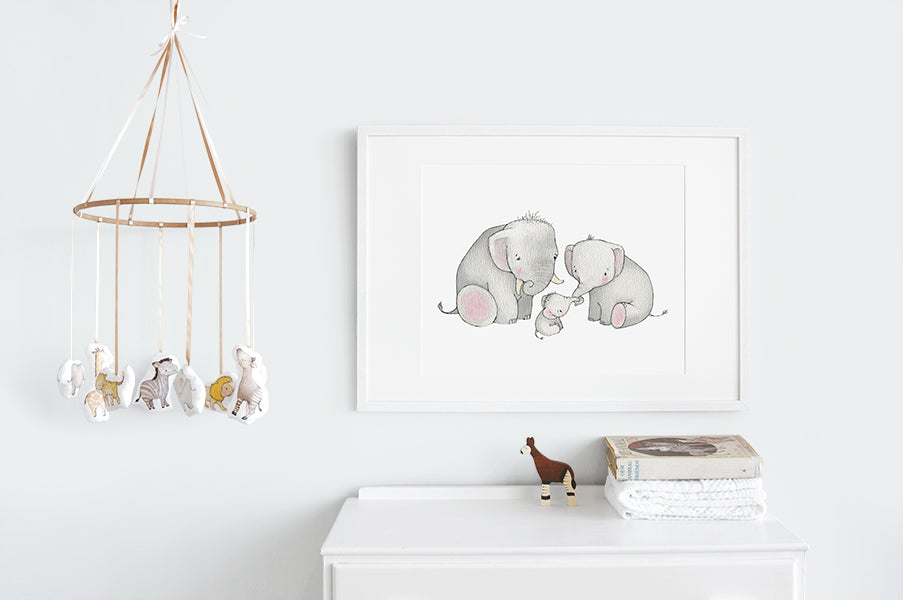 Children's Big Elephant Family Picture