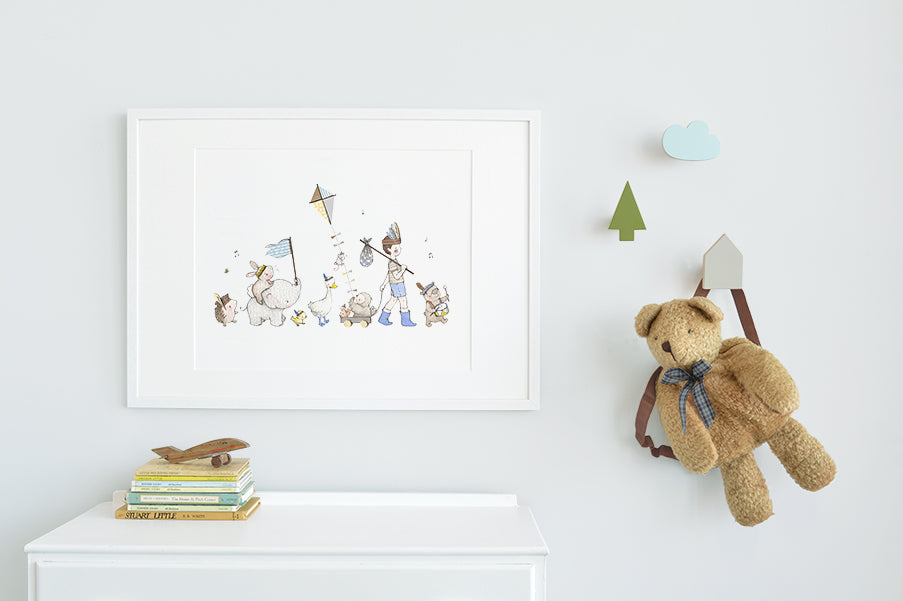 Children's Big Explorers Print for a Boy's Room