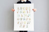 Kid's Big Woodland Alphabet Print Poster