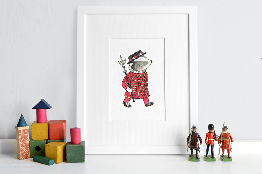 Children's London Beefeater Badger Picture