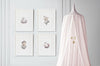 Pink Ballerina Bunny Girl's Nursery Wall Art Set
