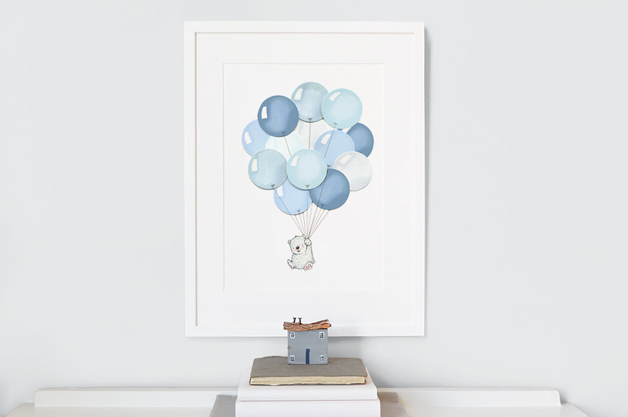 Boy's Blue Balloon Bunch Picture