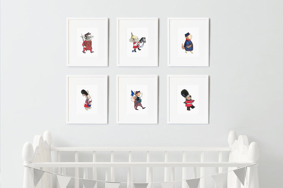 Children's British Guards Nursery wall art set