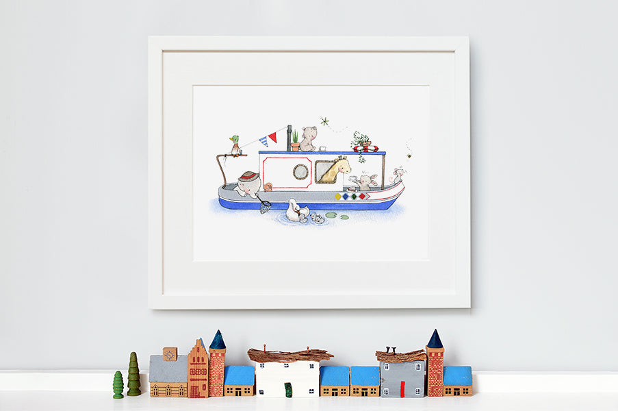 Children's Canal Boat Artwork Print