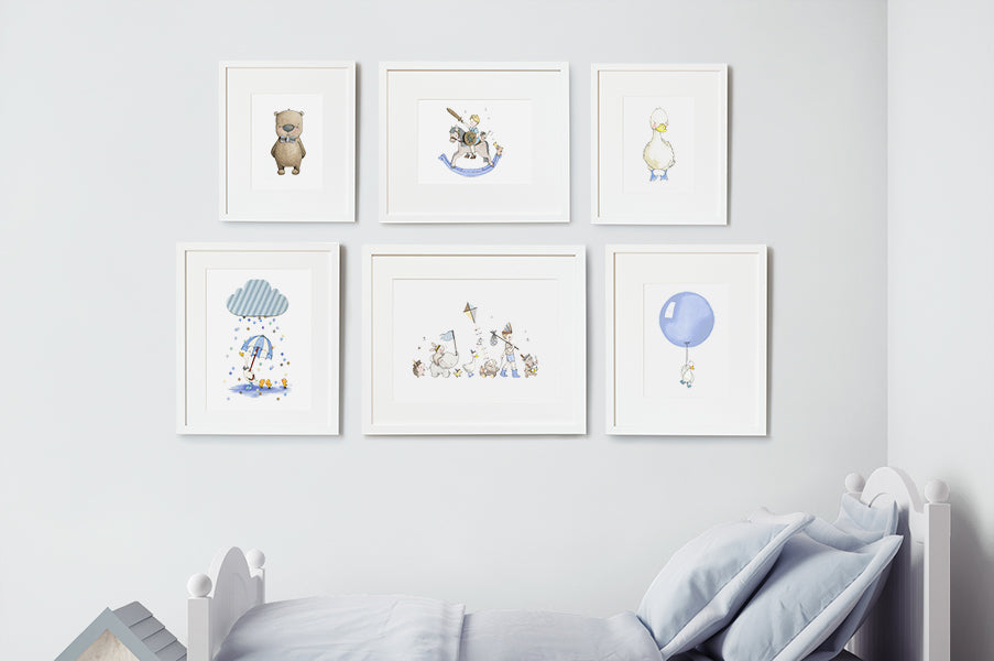 Baby boy's nursery wall art Dreamer print Set