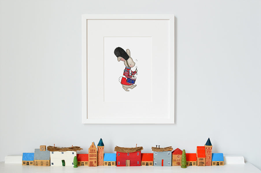 Children's Drummer Hare London Guard Print