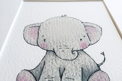 Personalised Newborn Elephant baby picture