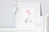 Baby Girl's Rose Pink Nursery Wall Art Set