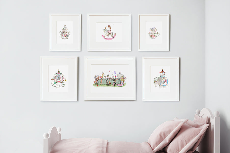 Girl's Enchanted Tale Nursery Wall Art Set