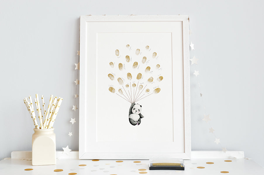 Fingerprint Activity Art Print for Baby Shower Gift