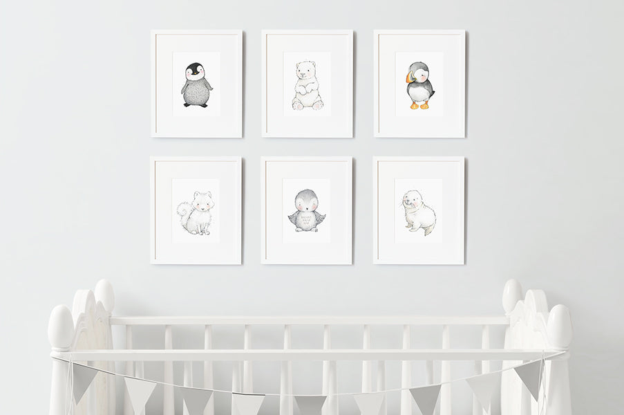 Frozen Baby Animal Friends Nursery Wall Art Set