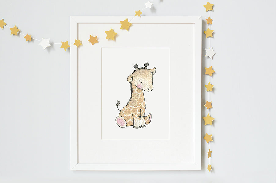 Personalised Newborn Giraffe baby picture