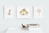 Baby Giraffe Nursery Wall Art Set