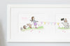 Girl's Classic Framed Tug of War Game Long Picture