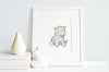 Personalised Newborn Hippo Baby Picture
