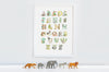 Jungle Animal Alphabet Wall Print for Kid's Room