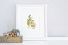 Personalised Neutral Jungle Letter Kid's Print