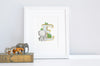 Children's Personalised Jungle Initial Letter Print