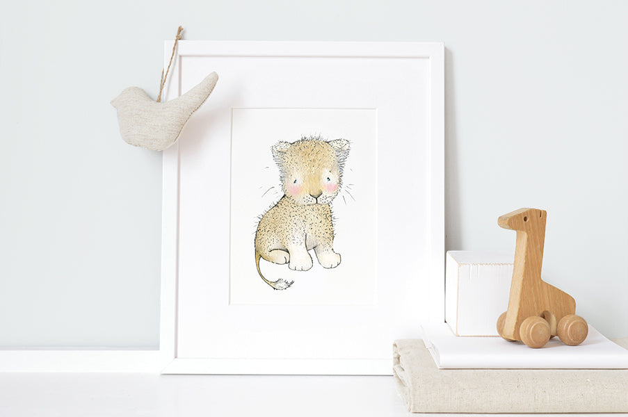 Personalised Newborn Lion Baby Picture
