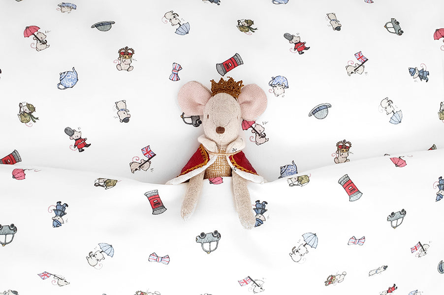 Children's London Mice Cot Bed Duvet Set
