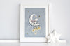 Children's Personalised Catching Stars moon picture