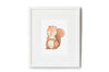 Newborn Baby Squirrel Nursery Art Picture