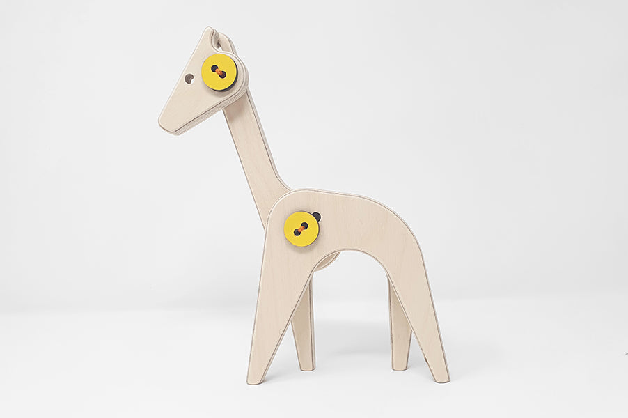 Children's Modern Wooden Toy Giraffe for baby or toddler