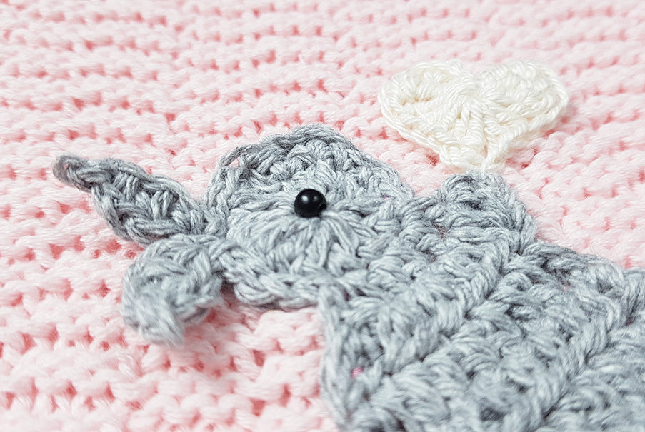 Baby Girl Pink Bunny Cotton Knit Blanket