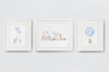 Baby Boy's Powder Blue Nursery Wall Art Set
