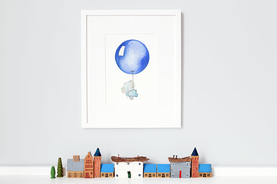 Children's Primary Blue Round Balloon Picture