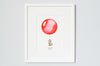 Bright Red Round Balloon Children's Print