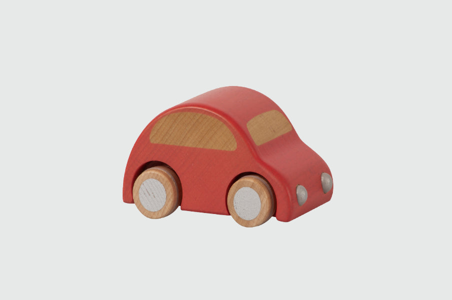 Maileg Kid's pull and go Red Wooden Car toy