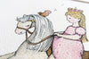 Girl's Big Rocking Horse Princess Picture