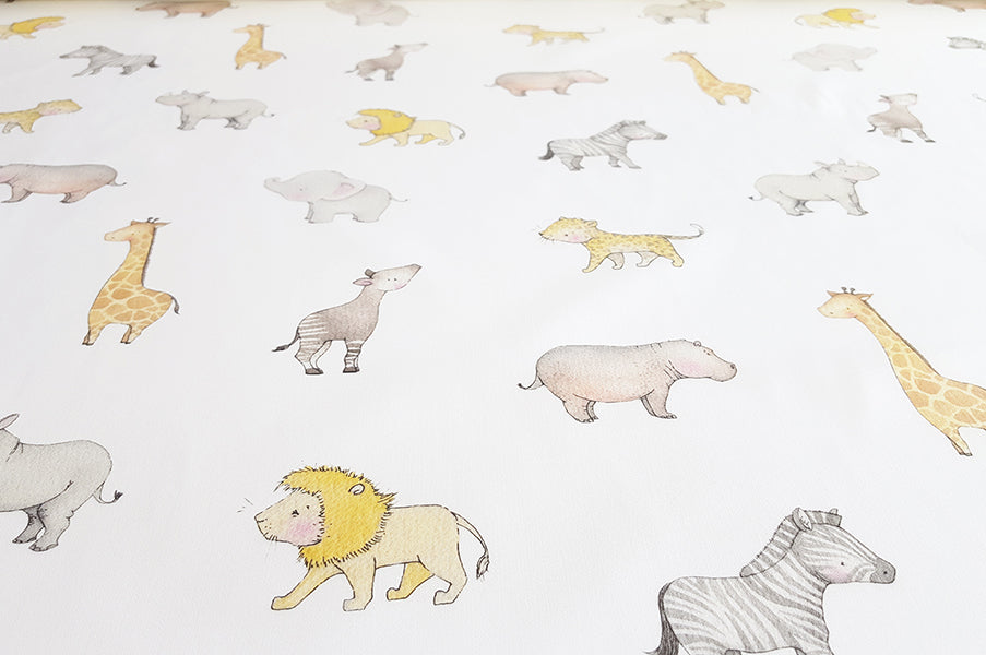Children's Safari Animal Cotton Fabric