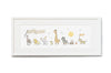 Children's Personalised Framed Safari Animals on Parade Picture