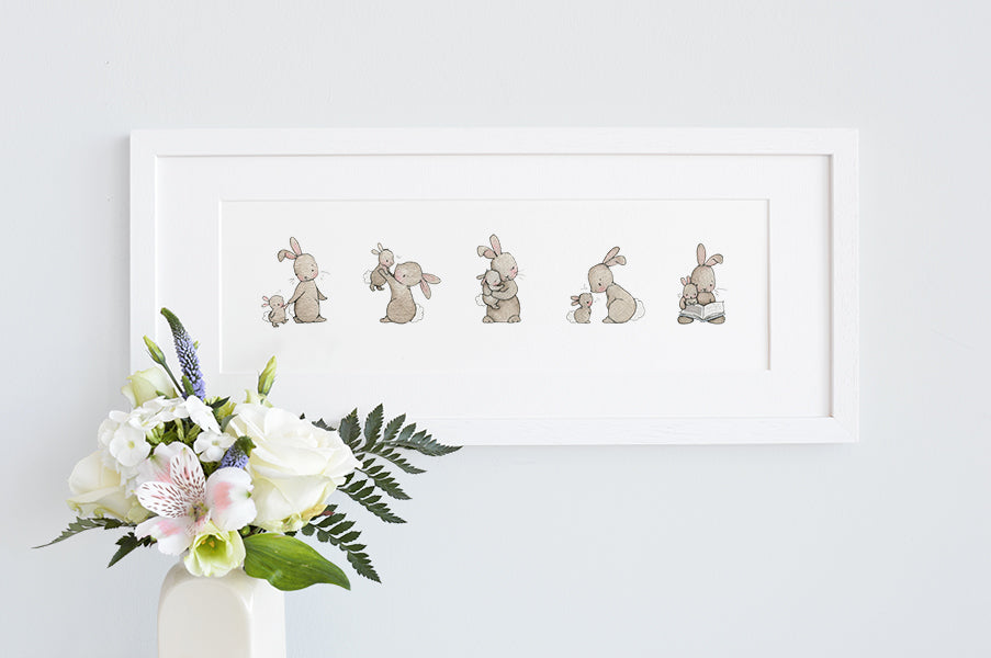 Framed Some Bunny Loves You Long Children's Print